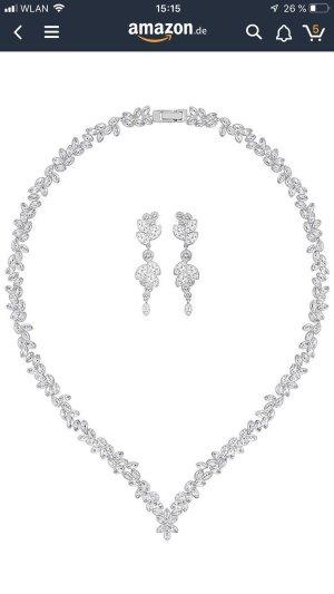 Swarovski Collier wit-zilver