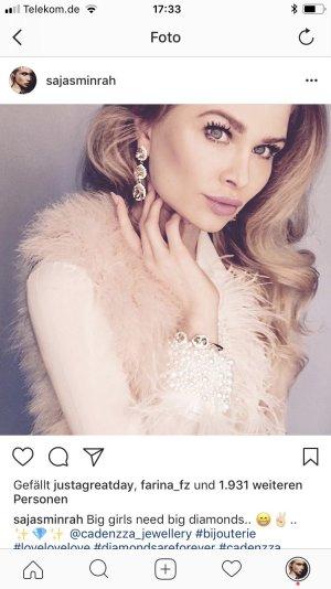 Swarovski edle Braut Ohrringe rosa Kristall