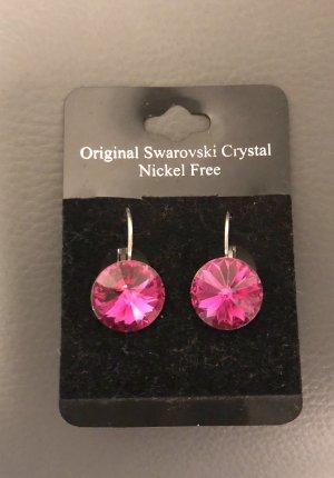 Swarovski Elements Ohrringe Ohrhänger pink