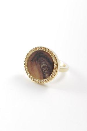 Swarovski Gold Ring gold-colored-light brown elegant