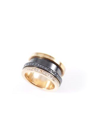 Swarovski Goldring schwarz-goldfarben Elegant
