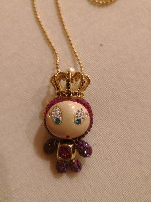 Swarovski Halskette Erika pink gold