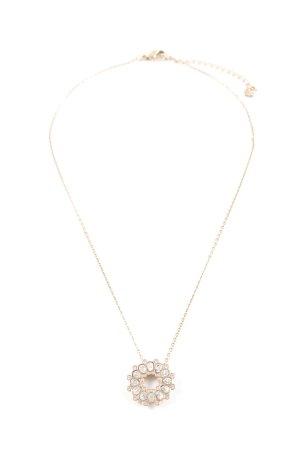 Swarovski Necklace gold-colored floral pattern elegant