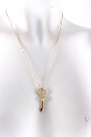 Swarovski Collana oro-argento con glitter