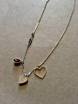 SWAROVSKI Halskette, Herz, echtsilber, OVP