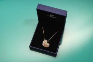 Swarovski Halskette Herz vergoldet/Kristall ungetragen aus Paris