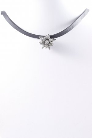 Swarovski Halskette schwarz-blassblau extravaganter Stil