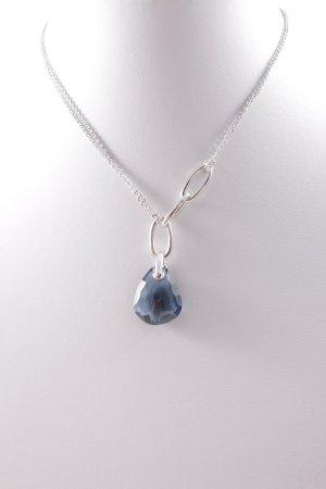 Swarovski Halskette silberfarben-dunkelblau Elegant