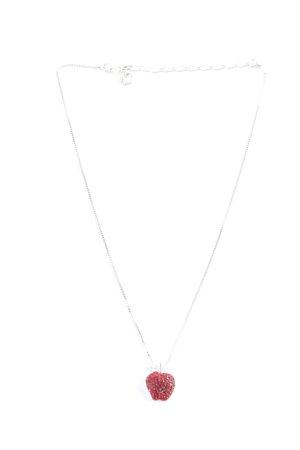 Swarovski Collier argenté-rouge foncé style décontracté