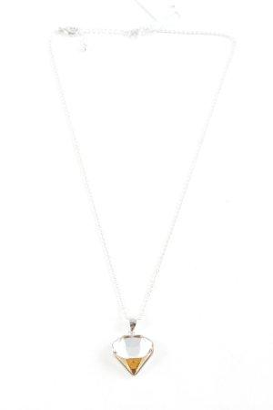 Swarovski Halskette silberfarben-hellorange Elegant