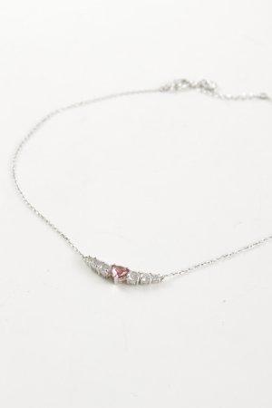 Swarovski Necklace silver-colored-pink casual look