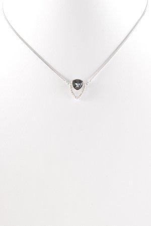 Swarovski Halskette silberfarben-stahlblau Elegant