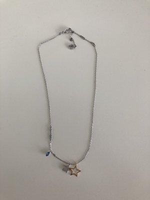 Swarovski Collana argento-blu fiordaliso