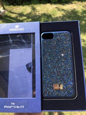 Swarovski Hoesje voor mobiele telefoons donkerblauw