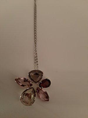 Swarovski Collana viola-grigio-grigio chiaro Argento