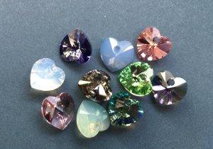 Swarovski Herz Anhänger - 10 Kristalle