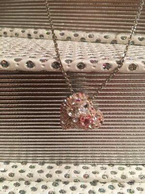 Swarovski Herz Kette rosa