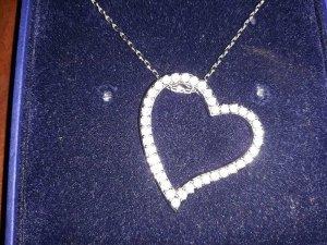 Swarovski Collier Necklace silver-colored real silver