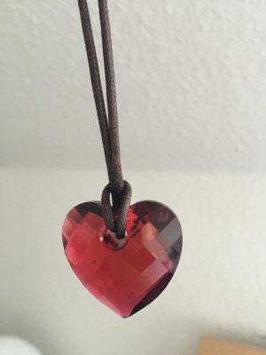 Swarovski Herz mit Lederband
