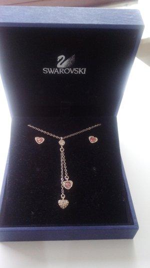 Swarovski Herz-Set Halskette mit Ohrringen