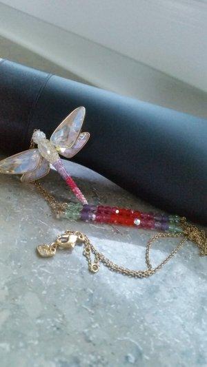 swarovski Kette Gold Libelle Original-Verpackung