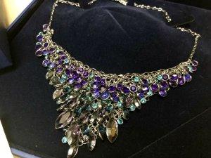 Swarovski Collar estilo collier multicolor acero inoxidable