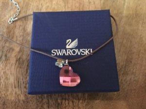 Swarovski Kette Herz pink