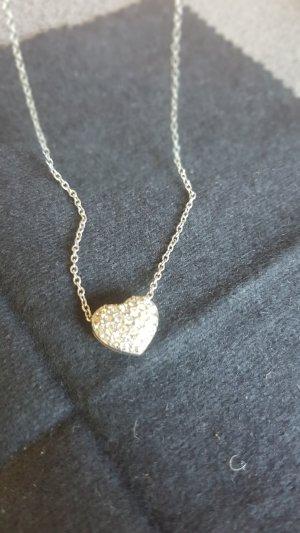 Swarovski Statement Necklace white-silver-colored