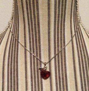 Swarovski Collar color plata-rojo