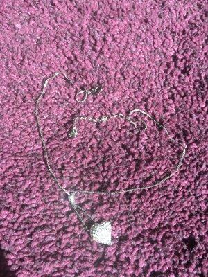 Swarovski Kette mit Kristall besetztem Herzanhänger