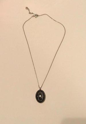 Swarovski Collier argenté-noir