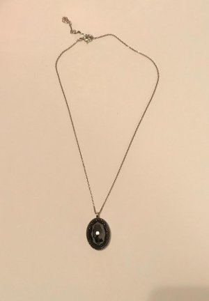 Swarovski Kette mit rundem Anhänger Stein Silber