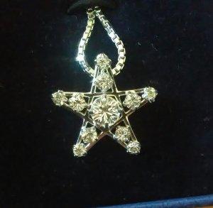 Swarovski Medallón color plata metal