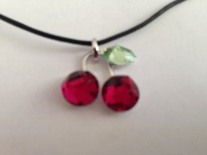 Swarovski Kette Ruby Cherries pink