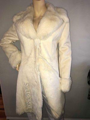Swarovski Kristalle Winter Mantel Jacke in gr 38 Farbe Creme
