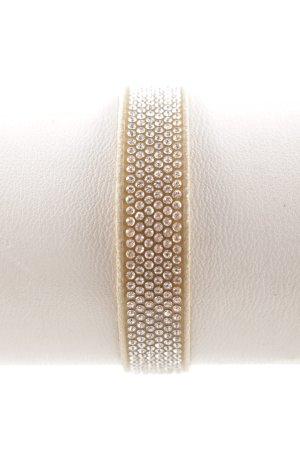 Swarovski Leather Bracelet oatmeal-silver-colored elegant