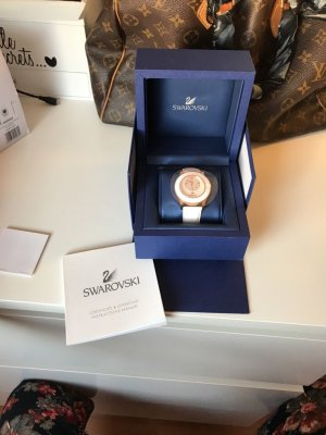 Swarovski Montre blanc-or rose