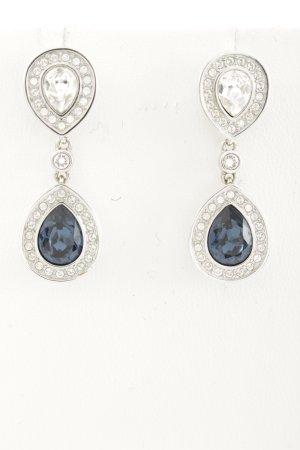 Swarovski Ohrhänger silberfarben-dunkelblau Elegant