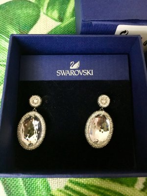 Swarovski Earring white-light grey
