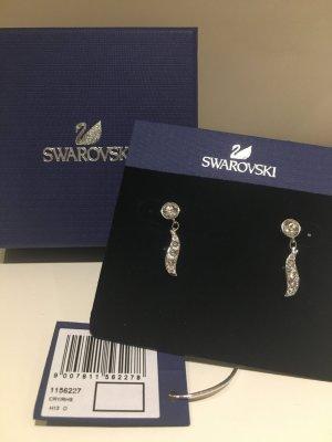 Swarovski Dangle white-silver-colored stainless steel