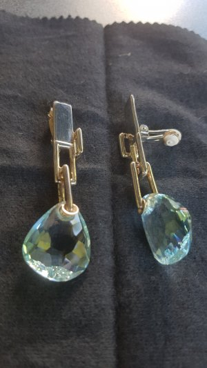 Swarovski Earclip light blue-petrol