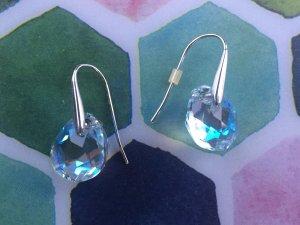 Swarovski Zilveren oorbellen veelkleurig