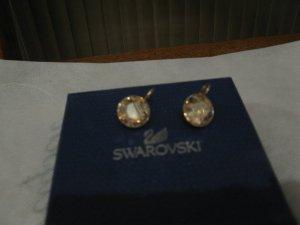 Swarovski Ohrringe mit honiggelb Kristallen