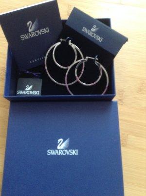 Swarovski Ohrringe mit pink Steinchen
