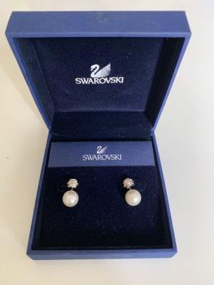 Swarovski Pearl Earring silver-colored-white