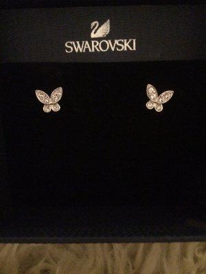 Swarovski Ear stud white-silver-colored