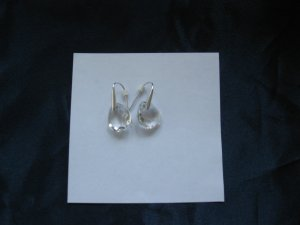 Swarovski Ohrringe, Tropfenform, durchsichtig