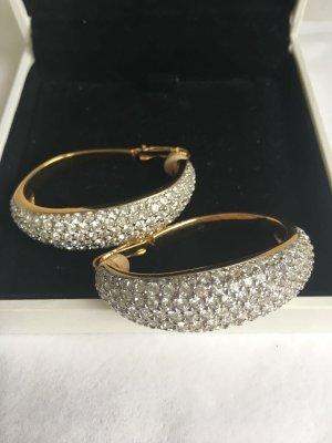 Swarovski Oorclips goud-zilver