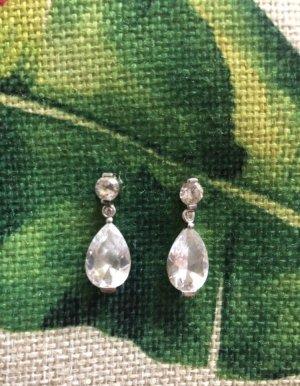 Swarovski Silver Earrings silver-colored-white