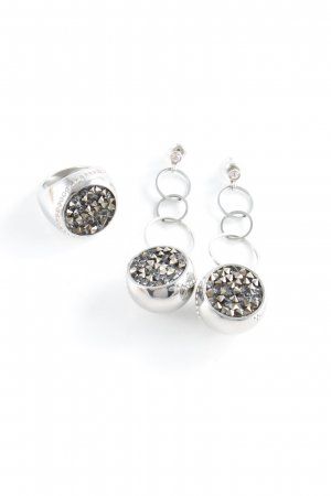 "Swarovski Ohrstecker ""Set Ohrringe+ Ring"" silberfarben"